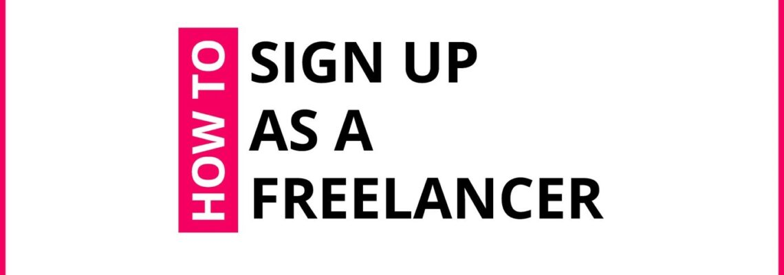 How To Sign Up As A Freelancer On Crowdshare?